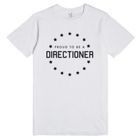 proud to be a directioner-Unisex White T-Shirt