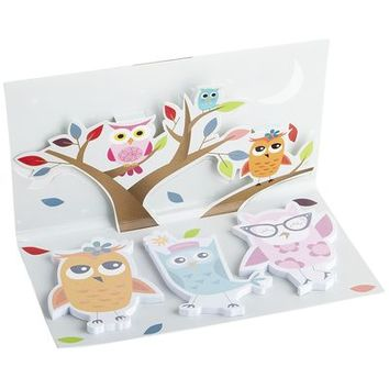 Sticky Note Pad Set with Owls