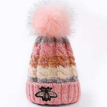 One-nice™ GUCCI Women Embroidery Beanies Knit Hat Warm Woolen Hat