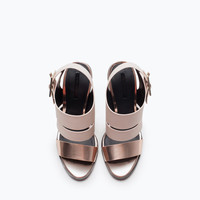 Trf high-heel sandals