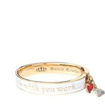 Disney Couture | Disney Couture Snow White 14ct Gold Plated 'Whistle while you work' Enamel Bracelet at ASOS