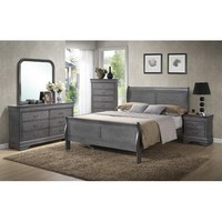 Wildon Home Louis Phillip Queen Sleigh Customizable Bedroom Set - Walmart.com