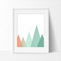 Mint + Coral Mountains