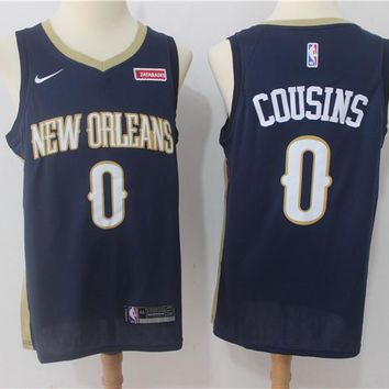 Best Deal Online NBA Basketball Swingman Jerseys New Orleans Pelicans # 0 DeMarcus Cousins Navy