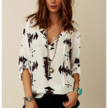 BB Dakota - Krysta Printed Twill Top