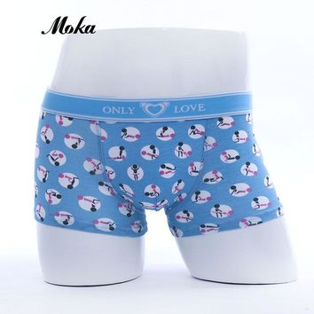 Sexy Underwear Funny Boxer Shorts For Men Cute Mens Cotton Cueca Boxers Lover Hombre Klein Underpants Trunks Pouch Underwear