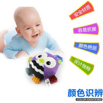 Happy Monkey 23cm music ball Baby Plush Toy Stuffed owl cow animal Doll bed car Hanging Beat electronic voice Infant Gifts kid