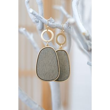 Forever Yours Earrings - Grey