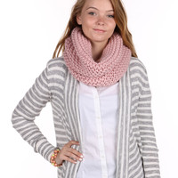 Pink Knit Infinity Neck Warmer