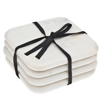 Godinger Marble Coasters in White (Set of 4)
