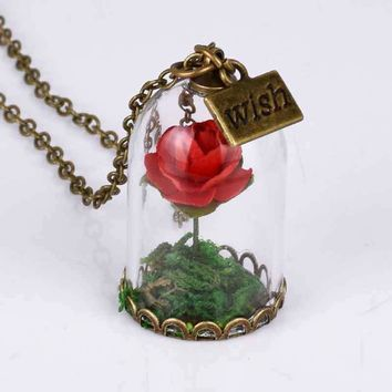 Rose Bottle Necklace