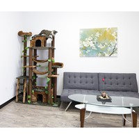 Green Kitty Mansions Cat Tree Furniture