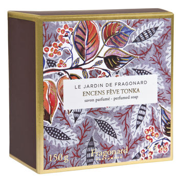 Fragonard, JARDIN DE FRAGONARD, Encens & Feve Tonka (Tonka Bean Incense) Sculpted Soap, 150 g (5.29 oz)