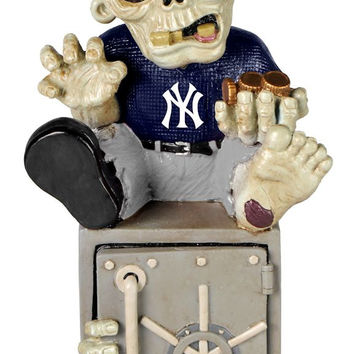 New York Yankees Zombie Figurine Bank