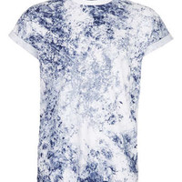 NAVY WASHED HIGH ROLL T-SHIRT - Sale T-Shirts & Tanks - Sale