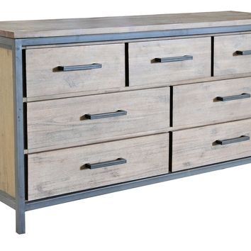 Lofton 7 Drawer Dresser ACACIA/IRON