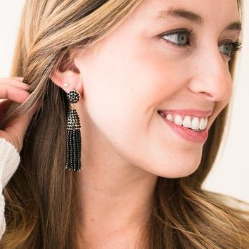 Bead The Way Beaded Tassel Earrings