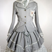 Gothic Lolita Pirate Sailor Navy Spring Jacket