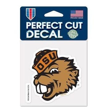 "Licensed Oregon State Beavers Official NCAA 4"" x 4"" Die Cut Car Decal OSU Wincraft 215871 KO_19_1"