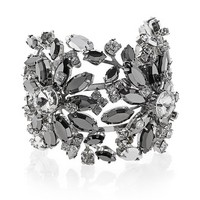 White House | Black Market Gray Faceted Floral Crystal Cuff