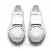 Indie Designs Acne Studios Inspired Adriana Grain White Leather Sneakers