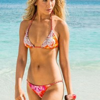 Sauvage - Lotus Lace Coral | Chain Bikini Set