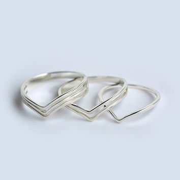Simple Chevron Ring, Sterling Silver Chevron Ring, Silver Rings, v ring,Geometric Ring,silver jewelry,gift for her,chevron jewelry
