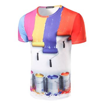 new Personalized Design Paint Painted printed T-shirt size sml