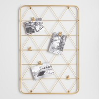 Gold Wire Photo Clip Wall Panel