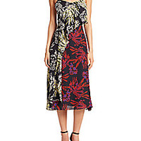 Tanya Taylor - Bella Printed Silk Dress  - Saks Fifth Avenue Mobile