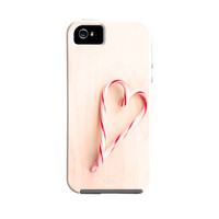 SALE Candy Cane Holiday iPhone case, Christmas iPhone case,candy cane heart, fine art holiday iPhone 5s, iPhone 5c, christmas phone case