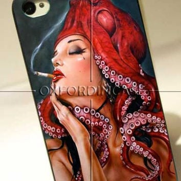 Tattooed Octopus Sigaret Design - for iPhone 4/4S case iPhone 5 case Samsung Galaxy S2/S3/S4 case hard case