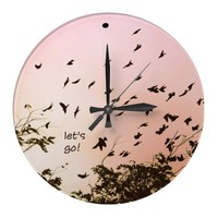 let's go! wall clock from Zazzle.com