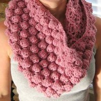 Rose Heather Pink Bubbly Cowl Scarf by lilyogini on Etsy