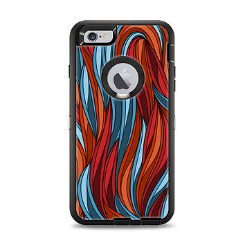 The Red, Orange and Blue Vector Strands Apple iPhone 6 Plus Otterbox Defender Case Skin Set