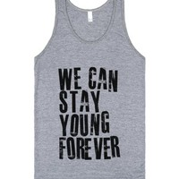 We Can Stay Young Forever-Unisex Athletic Grey Tank