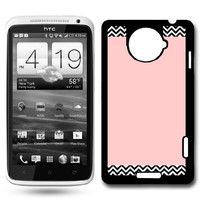 Chevron Pattern On Pink HTC One X Case Fits HTC One X