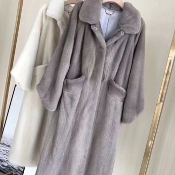 2018 new women natural real mink fur coat long  jacket  mink coat outwear