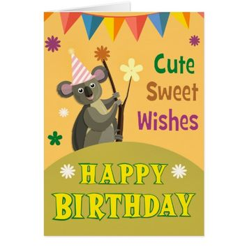 Birthday Celebration with Koala Greeting Card