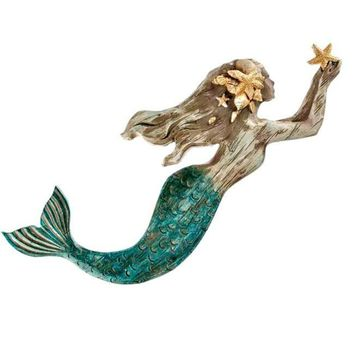Resin Mermaid Wall Sculpture
