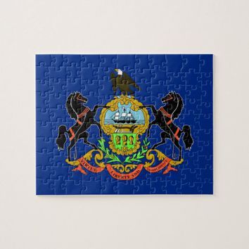 Puzzle with Flag of Pennsylvania State