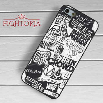 Band Logo Collage - z321z for iPhone 6S case, iPhone 5s case, iPhone 6 case, iPhone 4S, Samsung S6 Edge