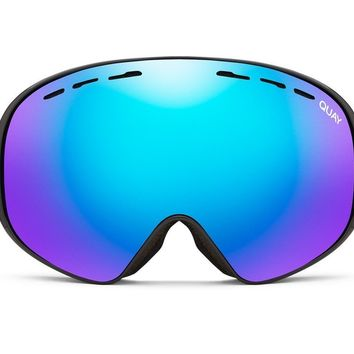 Quay Mogul Black Snow Goggles / Purple Lenses