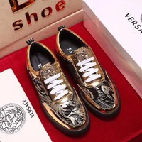 Versace men's shoes 2018 new shoes sports shoes thick bottom low shoes