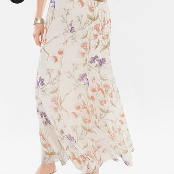 Chico's Floral Skirt