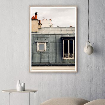 Parisian Roof top Posters Architecture Canvas Painting Art Print Wall Pictures For Living Room Nordic Home Decoration No Frame