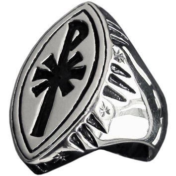Christian Monogram Pope Ring Vatican CHI RHO X P in Sterling Silver 925