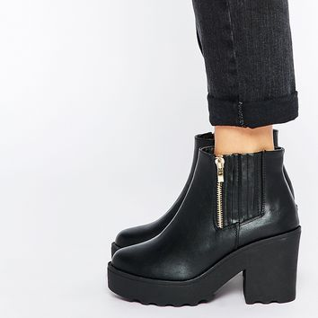 Truffle Collection Pearl Platform Zip Ankle Boots