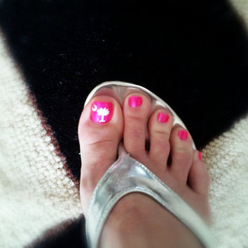 Palmetto Tree Toe nail decals