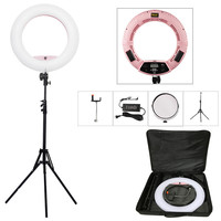 "Yidoblo Pink FD-480II 18"" Dimmable LED Ring lamp Sets 480 LED Studio Video Light Lamp Photographic Lighting + stand (2M)+ bag"